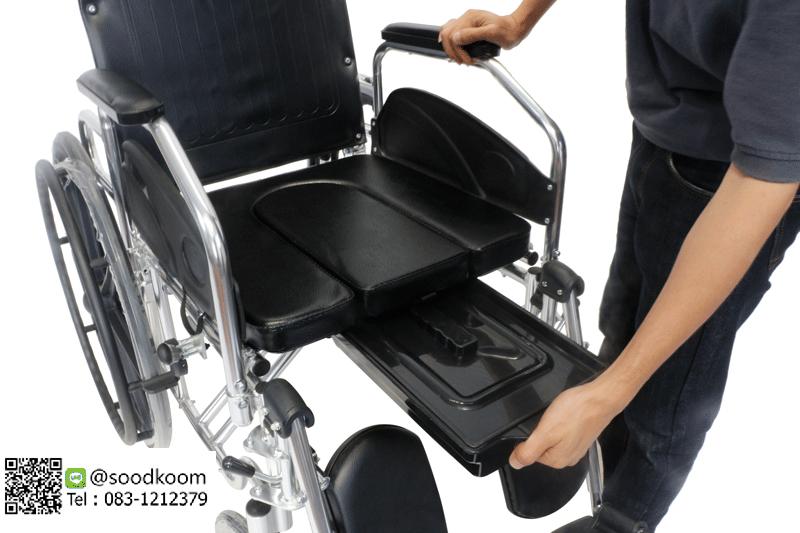 รถเข็นคนชราและผู้ป่วย อลูมิเนียมอัลลอย แบบปรับนอน รุ่น Bed-02