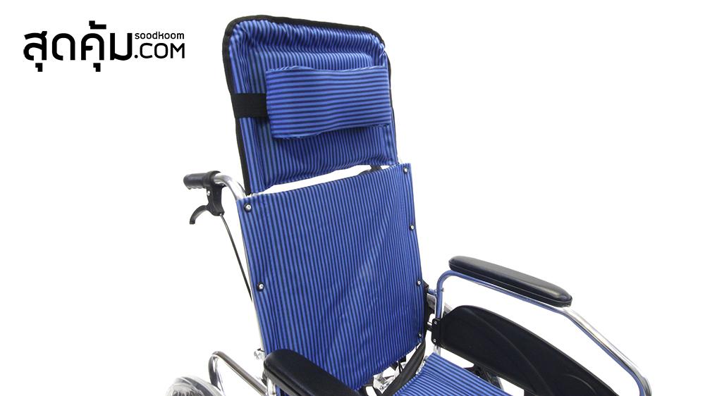 รถเข็นผู้ป่วยและคนชรา อลูมิเนียมอัลลอย แบบปรับนอน รุ่น Bed Blue